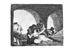 Francisco de Goya, Los desastres de la guerra / Die Schrecken des Krieges, 1810-1814 / 1863, Blatt 13: Bittere Anwesenheit.