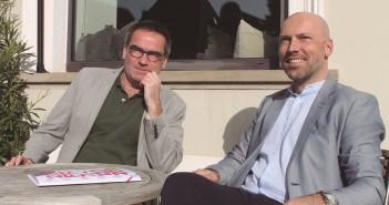 Programmdirektor Bernd Buder (l.) und Geschäftsführer Andreas Stein