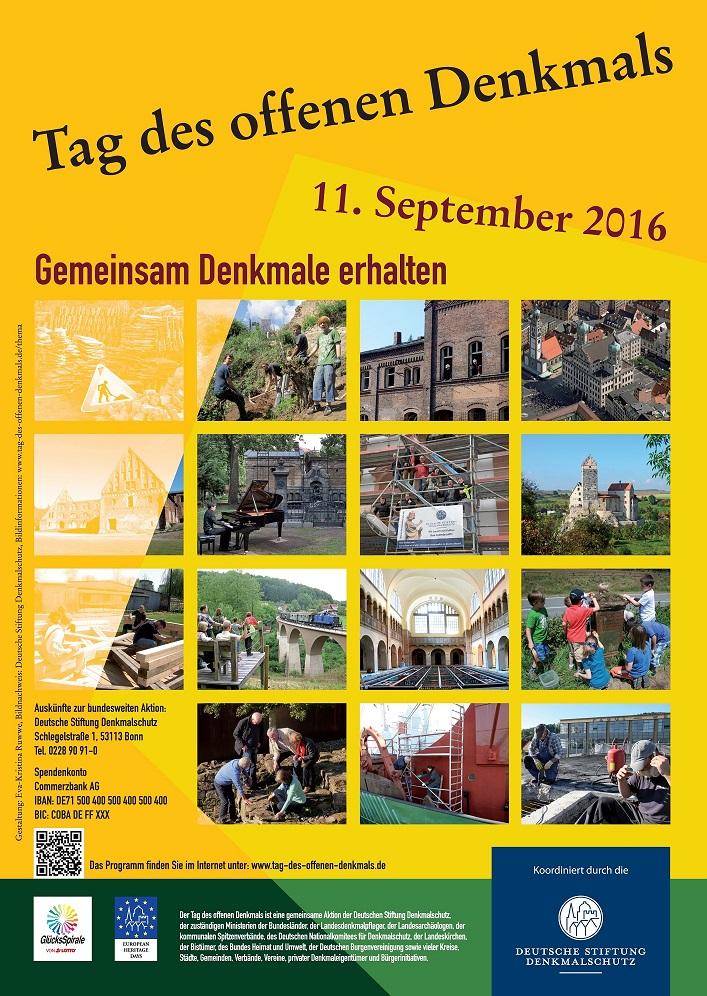 Denkmaltag Plakat