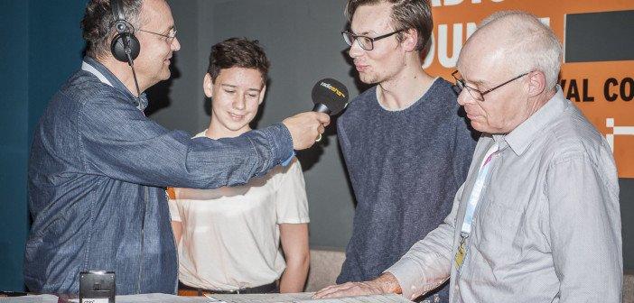 hermann und radioeins-Filmkritiker Tom Zisowski bei Knut Elstermann