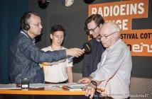 hermann und radioeins-Filmkritiker Prof. Ralf Woll bei Knut Elstermann