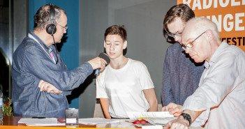 hermann und radioeins-Filmkritiker Justus Gutsche bei Knut Elstermann
