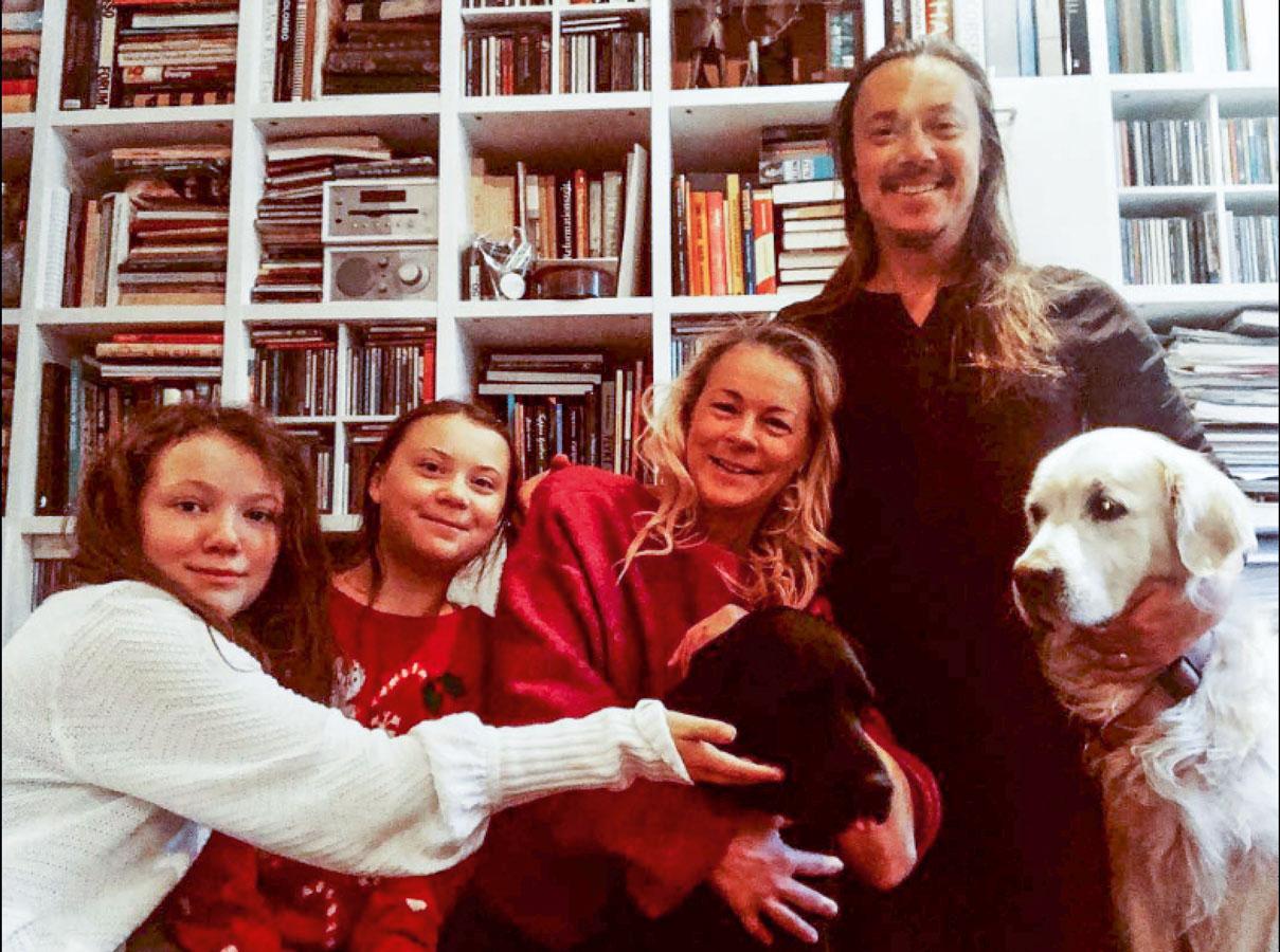 Bild: Familie Thunberg. Foto: Tunberg / Ernman
