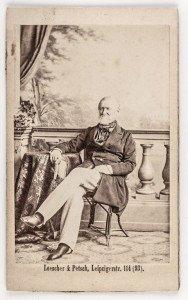 Fürst Hermann von Pückler-Muskau, Fotografie Atelier Loescher & Petsch, 1862 ©SFPM Foto: Codiarts