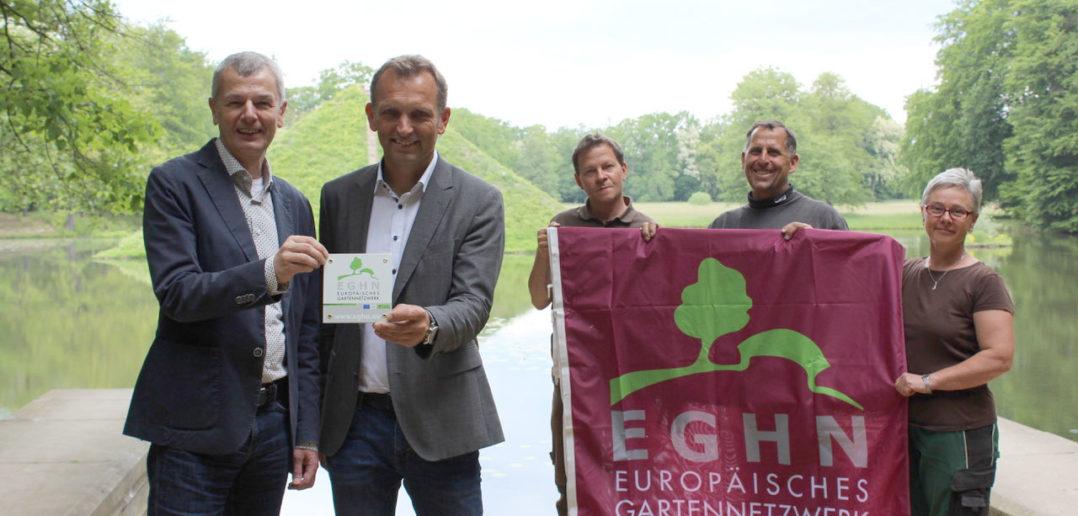 Das EGHN – EUROPEAN GARDEN HERITAGE NETWORK – Europäisches Gartennetzwerk Im EGHN sind rund 190 Gärten aus 14 Ländern Europas vertreten. Das EGHN hat seit 2003 das Profil von Gärten gestärkt und ihre zentrale Bedeutung für Politik, Gesellschaft, Städtebau, Tourismus und regionale Wirtschaftsentwicklung unterstrichen. Ziel des Netzwerkes ist der internationale Erfahrungsaustausch auf allen Ebenen sowie eine international ausgerichtete Präsentation der Parks und Gärten.
