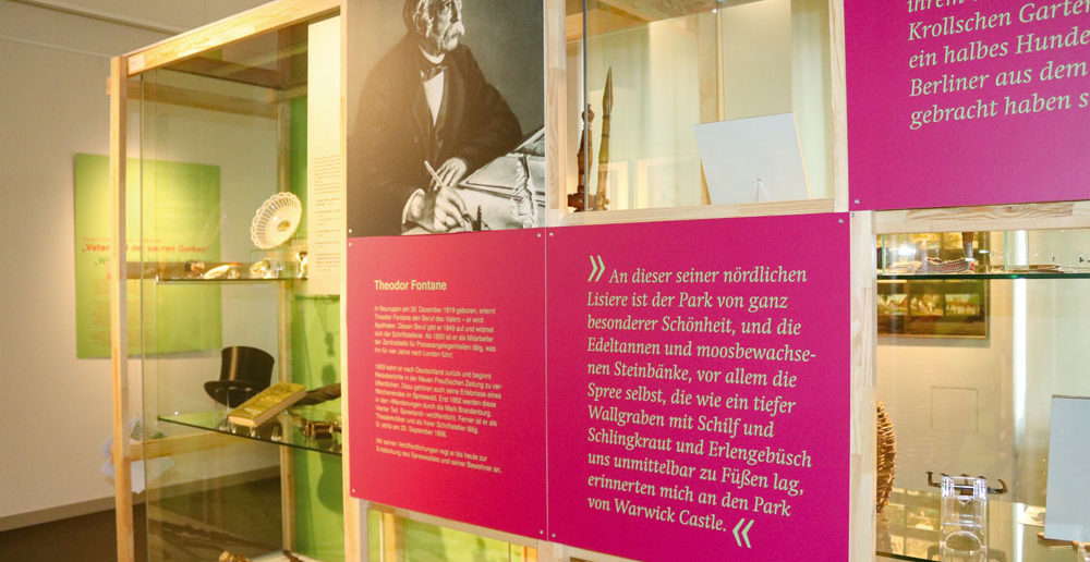 Fontane, Welk und der Spreewald vereint in einer Ausstellung. Fotos: Büschel