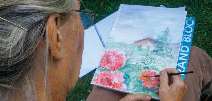 Gucken Sie den Künstler*innen über die Schulter! Foto: Schule für Niedersorbische Sprache und Kultur