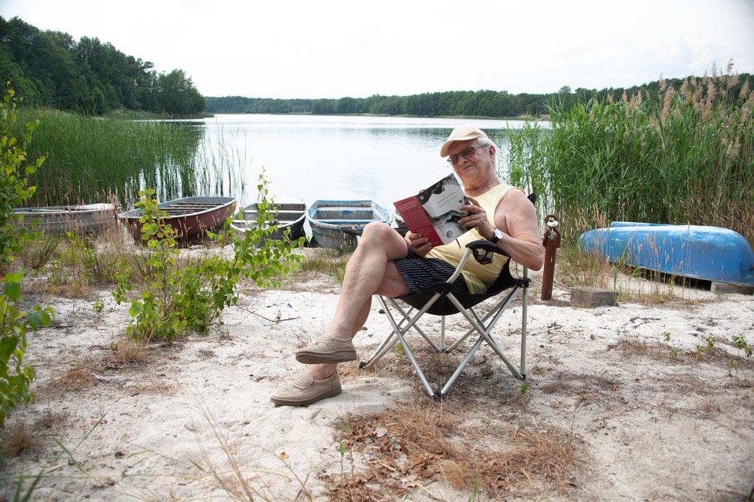 BU: Lesen in allen Situationen mit Klaus Wilke Foto: TSPV