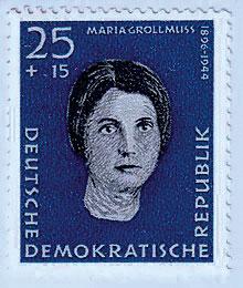 Maria Grollmuß auf der DDR-Briefmarke 1959